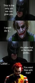 Funny Batman Meme - haha batman and joker as ronald mcdonald the goddamn batman