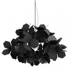 black and white pendant lights black modern chandeliers mysterious modern black flower covered