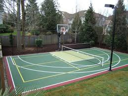 Basketball Courts With Lights Pickleball It U0027s A Seattle Thing And Basketball Court Combo With