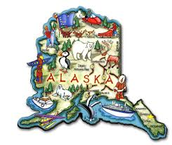 Alaska State Map by Artwood State Magnets Classicmagnets Com