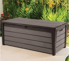 Keter Plastic Brushwood Plastic Wood Effect Plastic Garden Storage Box