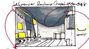 notre dame du haut floor plan ronch chapel someone has built it before
