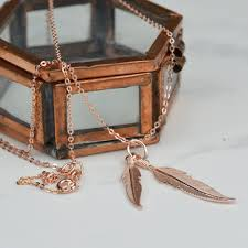 short chain necklace images Rose gold short chain feather necklace vanilla shore jewellery jpg