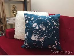 halloween pillows diy bleached out skull pillow domicile 37