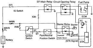 toyota celica fuel pump control circuit and wiring diagram