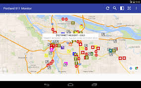 Portland Traffic Map by Portland 911 Incidents Monitor Android Apps On Google Play