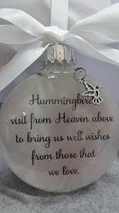memorial ornament sympathy gift hummingbirds visit