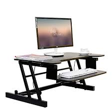 laptop standing desk converter vevor height adjustable standing desk riser dual 2 monitor 31 6 x