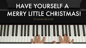 how to play yourself a merry on piano easy
