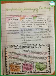teaching with a mountain view summarizing paraphrasing and