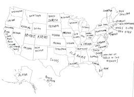 can you me a map of the united states they asked brits to label a map of the united states their