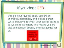 what does your favorite color say about you if your favorite color is red loris decoration