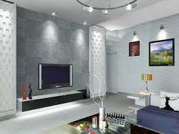 living stock photo modern equiped livingroom with big tv screen