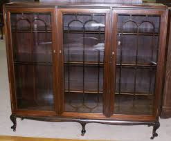 Vintage Bookcase With Glass Doors Fantastic Antique Bookcase With Doors About Walnut Antique