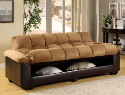 tan microfiber sofa bed futon caravana furniture