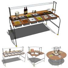 Pictures Of Buffet Tables by Buffet Tableset C01 3d Model Formfonts 3d Models U0026 Textures