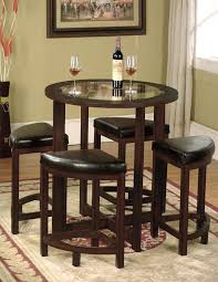 kitchen table with stools underneath brilliant circular dining 4