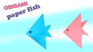 how to make an origami paper fish paper crafts for kids youtube