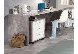 Schreibtisch Hochglanz Grau Büromöbel Beton Light Atelier Hochglanz Weiss Mit Schreibtisch