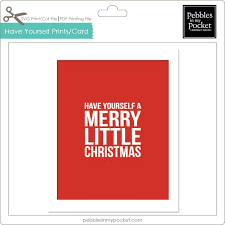 yourself a merry prints card digital