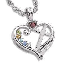 Custom Birthstone Necklaces Cross Charm New 595 Cross Pendant Birthstone Personalized