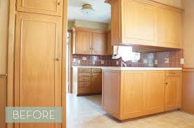 Kitchen Makeovers Photos - before and after a 1960s kitchen makeover curbly