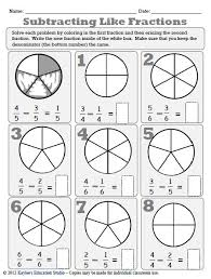 fraction worksheets kaylee u0027s education studio