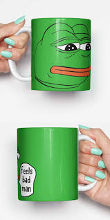 Unique Housewarming Gifts by Pepe Feels Bad Man Sad Frog Meme Funny Mug Gifts For Him