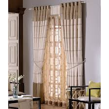 Valance Curtains For Bedroom Modern Chinese Beige Jacquard Striped Curtains For Bedroom No Valance