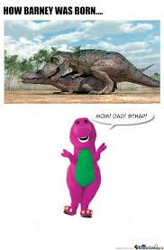 T Rex Meme Unstoppable - barney the dinosaur by glennkarlivan meme center