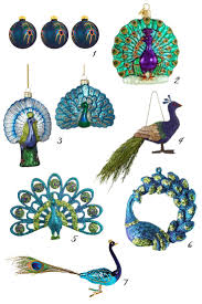 peacock christmas decorations home decorations