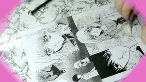 drawing manga page 2 sketch ink screentones youtube