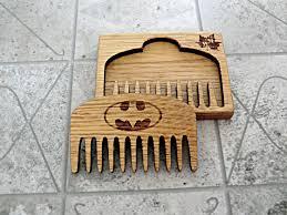 Wooden Groomsmen Gifts Batman Beard Comb Personalized Wooden Mustache Comb Groomsmen