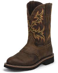 s rugged boots justin s stede 11 eh waterproof toe work boots