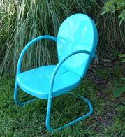 Turquoise Patio Chairs Retro Patio Furniture Metal Glider Just Like You Remember