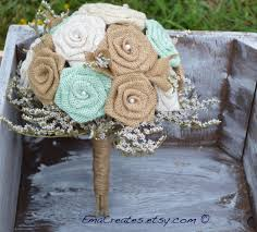 burlap wedding fabric wedding bouquets from etsy