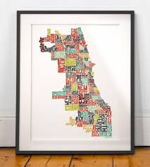 United States Map Poster by Chicago Map Poster Chicago Map Art United States Of America