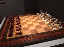 coolest chess set i u0027ve ever seen in the rijksmuseum in amsterdam
