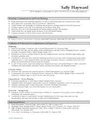 Functional Resume Sample by Resume Event Coordinator Resume Sample