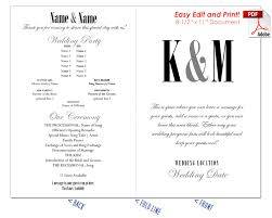 Wedding Fans Template Ampersand And Initials Wedding Program Fan Cool Colors