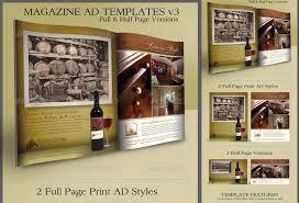 print ad templates v3 full u0026 half page designs u2039 psdbucket com