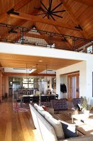 loft railing ideas living room farmhouse with farm house tall ceilings