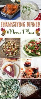 thanksgiving thanksgiving dinner menu plan around my family