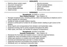 Receptionist Resume Sample by Charming Receptionist Resume Samples 15 Best Resume Examples For