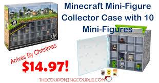 best price minecraft mini figure collector case 10 mini figures