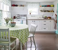 laminated cotton tablecloth with white shelf kitchen traditional