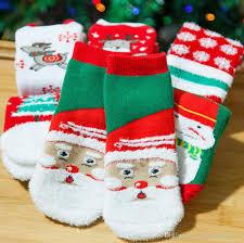 christmas baby socks girls winter socks cartoon socks toddler