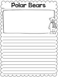 printable animal lined paper free polar bear writing frames and paper expository writing polar