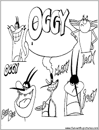 oggy and the cockroaches coloring pages free printable colouring
