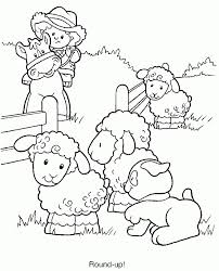 coloring pages farming scenes coloring home